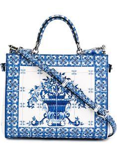 Dolce & Gabbana 'sicily' Medium Italian Tile Tote - Eraldo - Farfetch.com