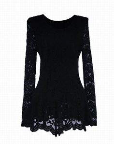 Elegant Ruffle Lace Splicing Long Sleeve Women's BlouseBlouses   RoseGal.com