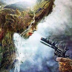 L'industrialisation est le plus grand danger de la nature.