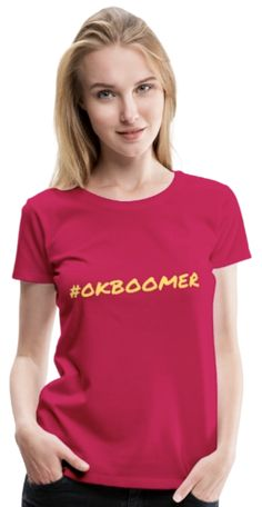 Simple and beautiful t-shirt. You can find more color and size options from the link - click and buy! Ok Boomer, Simple, Link, T Shirt, Stuff To Buy, Beautiful, Color, Tops, Women