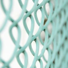 making the best of it. painted aqua chain link by Creature Comforts, via…