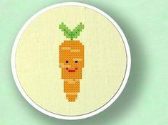 Carrot. Cross Stitch PDF Pattern
