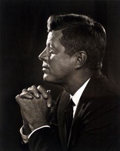 John F. Kennedy (1917-1963) the 35th President of the United States, serving from January 1961 until he was assassinated in November 1963.  Photo by Yousuf Karsh