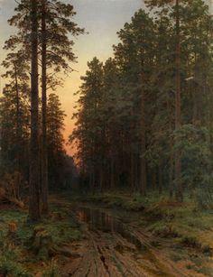 Ivan Shishkin, Twilight, 1896