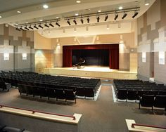 This auditorium is big enough for my school !!! and the decoration is nice.