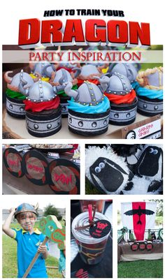 How to Train Your Dragon Birthday Party Inspiration #dragons #party #viking