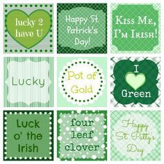 {Free} St. Patrick's Day Printables stickers labels... #stpaddys #cafepress #AllAboutThatGreen