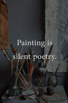 Painting is silent poetry Painting is silent poetry