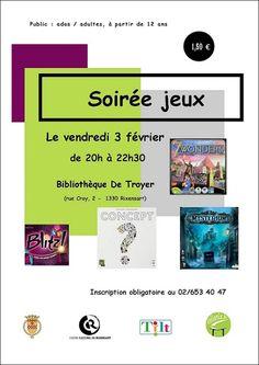 Escapages: Soirée jeux à la Bibliothèque De Troyer à Rixensart