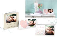 Druck Hochzeitseinladungen - Menükarten - dm Fotoservice