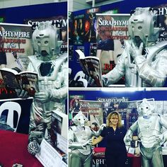 I had an #awesom time #Booksigning my #Seraphympire #novels @ the #Brisbane #Supanova2016 this year were a hit with #cyberman from #DrWho. #Cosplayers & #Cosplay #costumes.