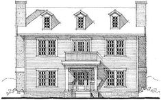 Plan W44045TD:   Center Hall Colonial House Plan  It's a good start, but MBR is on 2nd floor and no garage.