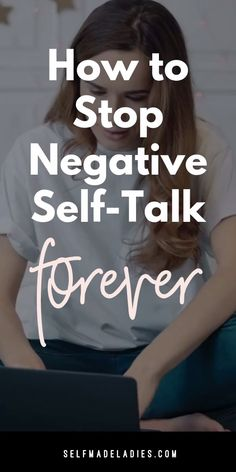 How to Stop Negative Self-Talk Forever, Diy Abschnitt, Negative Words, Negative Self Talk, Negative Thoughts, Personal Development Books, Self Development, Leadership Development, Motivation, Budget Planer, Self Image