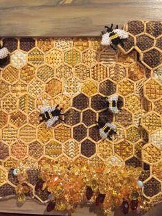Cool honey bees needlepoint