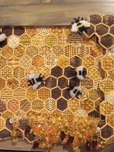 Cool honey bees needlepoint