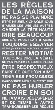 Home Rules Ardoise - J'aime!!