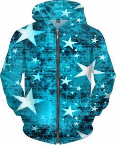 NBK Rebel Stars Custom Rave Rebel Revolution Style Zip Hoodie by Willy Badu.