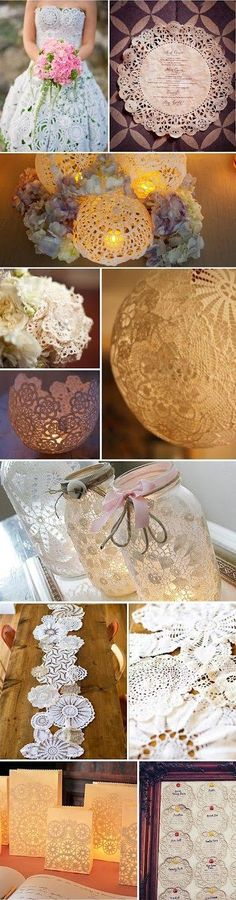 Décoration mariage napperons - http://www.mariageenvogue.fr/blog/index/billet/10728_decoration-mariage-napperons