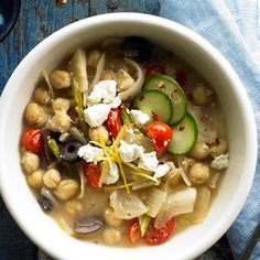 Mediterranean Chickpea Chili From Better Homes and Gardens, ideas and improvement projects for your home and garden plus recipes and entertaining ideas.