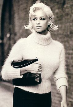 Omg the hair is adorable!  Vintage angora sweater
