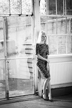 A classic A-line dress in a bold print #britishmade