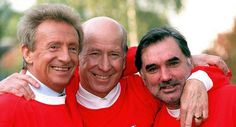Denis Law, Bobby Charlton, and George Best