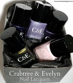 Review & Swatches: New Crabtree & Evelyn Nail Lacquers. Available at Memento Gift Shop, Palm Springs, 760-325-1963