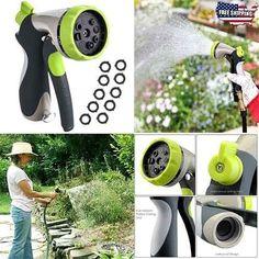 Metal-Garden-Hose-Spray-Nozzle-Adjustable-Watering-Plants-Car-Wash-Showering-New