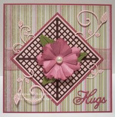 Holly's Pink Hugs is a great card for someone who needs a lift, thinking of you card card or maybe even a Valentine!