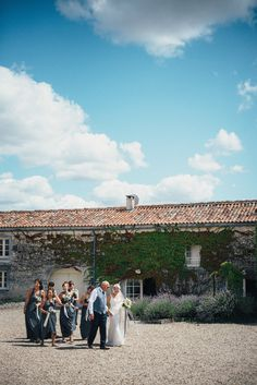 French wedding at Le Logis du Paradis in the Charente. Such a beautiful wedding procession. www.frenchify.co.uk www.susielawrence.com