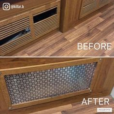 RV owner Brandon Willis replaced the broken slats of this vent cover in his RV with aluminum sheeting. Looks better than the original way, in my opinion!