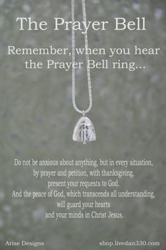 I love these Prayer Bells - they are more beautiful in person.  Enter for your chance to win one.