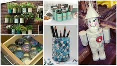 18 idei creative DIY de reciclare a cutiilor vechi de conserve