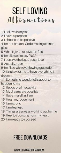 Self Love Quotes - Affirmations that will change your life - Lemonade Brain Affirmations Positives, Self Love Affirmations, Morning Affirmations, Affirmation Quotes, Self Love Quotes, Positive Thoughts, Quotes Positive, Positive Self Talk, Self Improvement