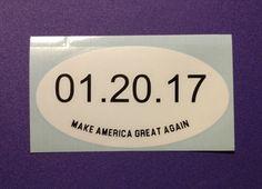 2017 Inauguration Date Marathon Decal - #128 by DesignsByLaurieann on Etsy