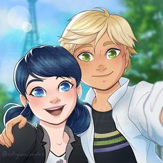 Miraculous Selfie- Marinette and Adrien from Miraculous Ladybug and Cat Noir Miraculous Ladybug Wallpaper, Miraculous Ladybug Fan Art, Meraculous Ladybug, Ladybug Comics, Episode Interactive Backgrounds, Best Friend Drawings, Cute Love Stories, Marinette And Adrien, Cat Noir