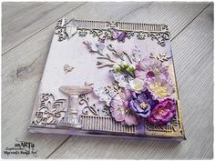 Mixed Media tutorial using Maja Design paper collection 'Vintage Romance' and Dusty Attic Chipboard. Products used in this tutorial: Maja Design Paper: Vinta...