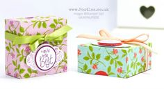 Stampin' Up! Demonstrator Pootles - Fold Flat Lidded Gift Box using Petal Garden. Click through for more details and video tutorial!