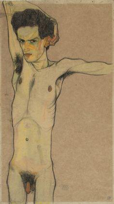 Egon Schiele - Self portrait