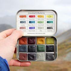 Watercolor Pallet, Watercolor Kit, Watercolor Paintings, Watercolors, Diy Inspiration, Art Hoe, Oeuvre D'art, Art Lessons, Art Supplies