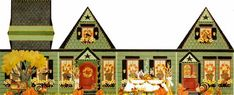 3D Thanksgiving House ~ Melissa Shirley Designs   Hand Painted Needlepoint   Thanksgiving