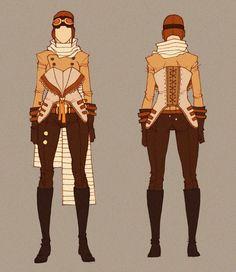 Steampunk Pilot - concept by MizaelTengu on deviantArt