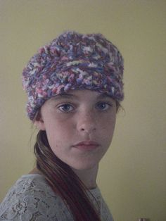 Ladies Handcrafted Crochet Hat with Visor. $20.00, via Etsy.