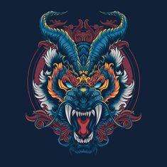 Japanese Drawings, Japanese Artwork, Japanese Tattoo Art, Mascara Oni, Samurai Artwork, Samurai Tattoo, Yakuza Tattoo, Japon Illustration, Dragon Artwork