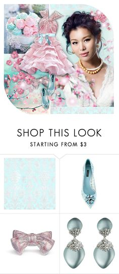 """""""Pink & Blue!"""" by asia-12 ❤ liked on Polyvore featuring Christian Dior, Dolce&Gabbana, Zuhair Murad, Judith Leiber and Alexis Bittar"""
