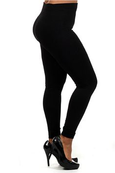Thick Fleece Lined Plus Size Leggings | OnlyLeggings.com - Leggings Superstore