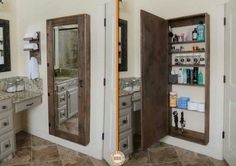 Full length mirror plus storage