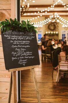 Wedding menu display that we love! {A Muse Photography}