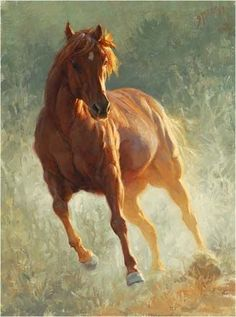 chestnut horse painting by Greg Beecham: