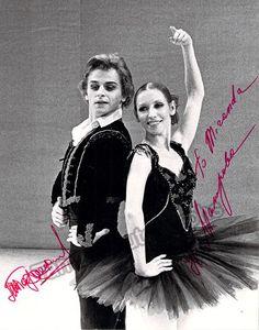 Baryshnikov, Mikhail - Makarova, Natalia - Double Signed Photo